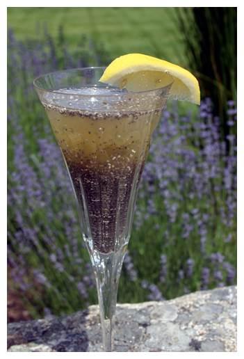 Sementes de Chia de molho com água e limão