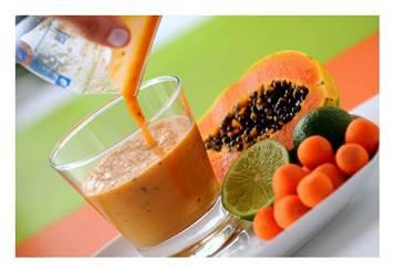 Suco de mamão cenoura